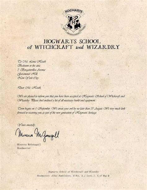 Hogwarts Acceptance Letter Background personalize a hogwarts ilvermorny or any acceptance letter by delaluna
