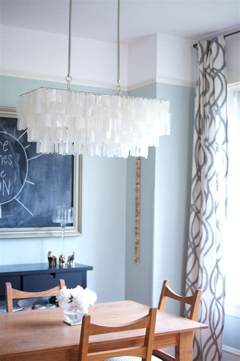 dining room   view chandelier shell pendant west elm