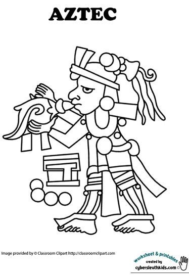 aztec coloring pages getcoloringpagescom