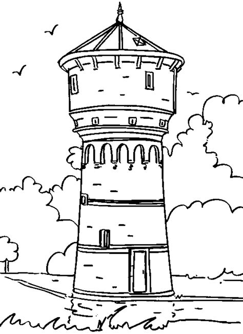 Tower Coloring Pages 1 Towers Coloring Page