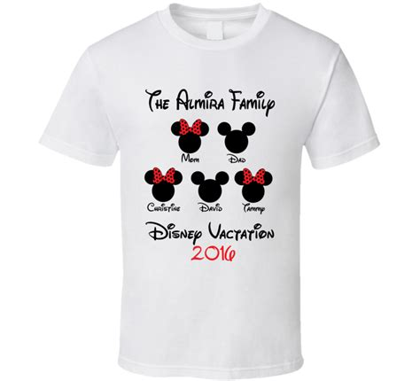 Handmade Disney Shirts - custom disney family vacation t shirt 2016