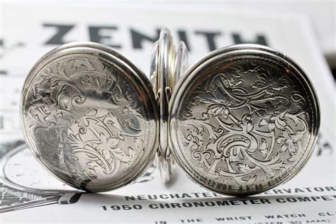 1914 zenith grand prix sterling silver swiss pocket