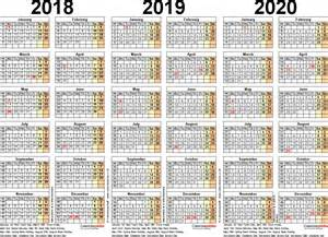 three year calendar template three year calendars for 2018 2019 2020 uk for word