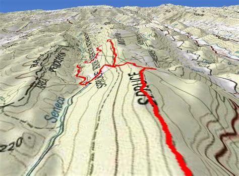 Spruce Knob Trail Map by Spruce Knob Seneca Creek Hike