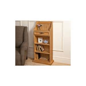 free standing wooden pine bookcase with four book shelves