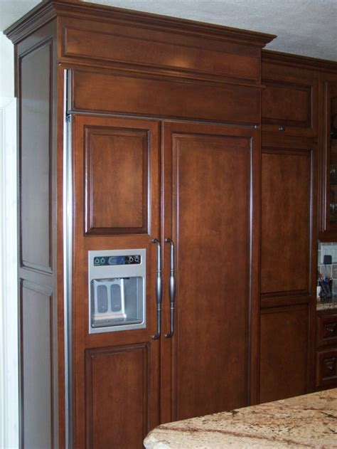 refrigerators that take cabinet panels custom kitchen cabinets in southern california c and l