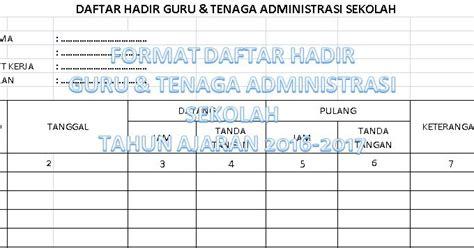 format rekapitulasi daftar hadir guru contoh format daftar hadir guru dan tenaga administrasi