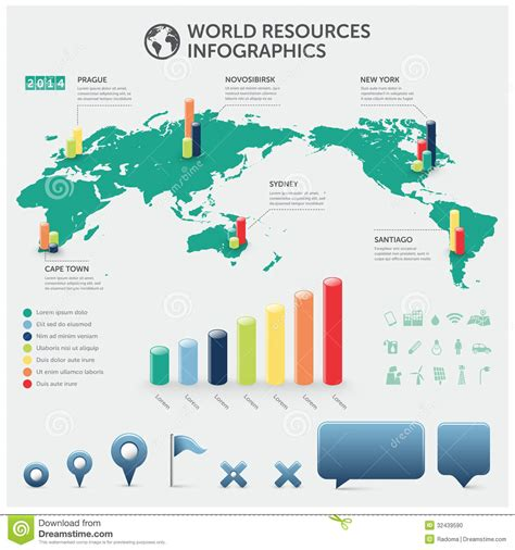 world resources info graphics stock photo image 32439590