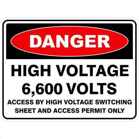high voltage safety high voltage 6 600 volts discount safety signs new zealand