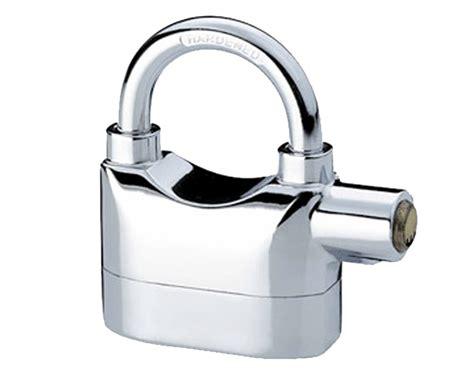 Alarm Padlock keyed alike padlock siren alarm padlocks chromium platted