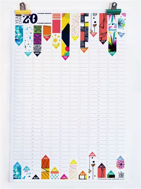 calendar design behance perpetual yearly wall planner by sam osborne via behance
