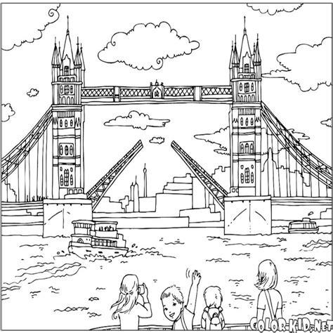 Dibujo Para Colorear Puente De Londres ? Dibujosparacolorear