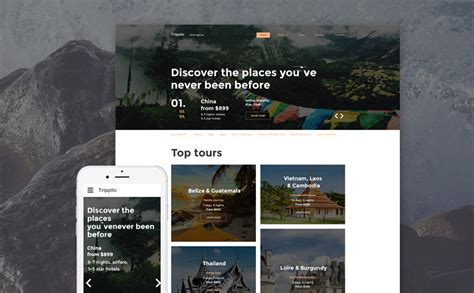 Tour Operator Website Template Tour Operator Website Template