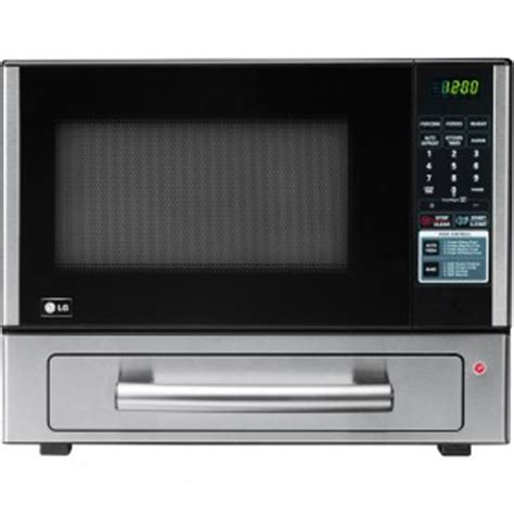 microwave with pizza drawer lg lcsp1110st 1 1 cu ft combination countertop microwave