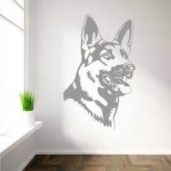 german shepherd alsation dog vinyl wall art sticker decal wall decal art 2017 grasscloth wallpaper