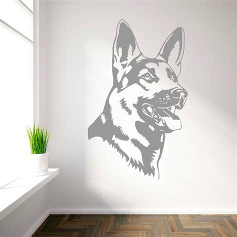 dog wall art german shepherd alsation dog vinyl wall art sticker decal