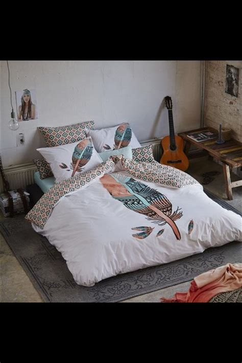 indie bed comforters home accessory bedding bedroom hipster feathers