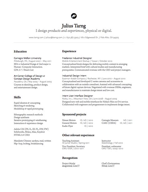 julius tarng industrial interaction designer