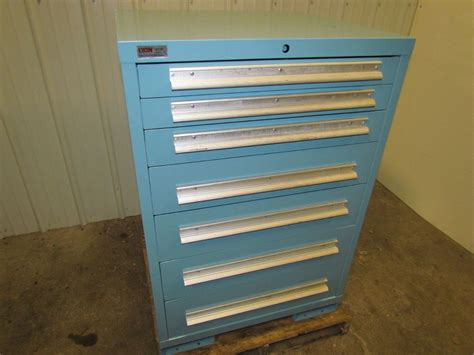lyon 7 drawer industrial tool storage parts steel cabinet