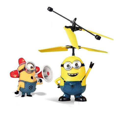 Minion Despicable Me Terbang Mainan Fliying Minion With Sensor helicopter flying induction despicable me minion quadcopter drone light aircraft ebay