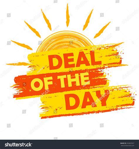 day deals summer deal day banner text yellow stock vector 202807657