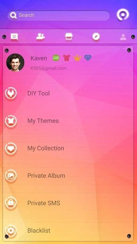 colourful themes for android free go sms colorful theme free android theme download