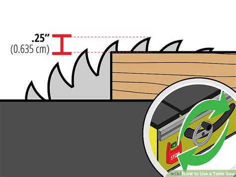 how to use a table saw 3 ways to use a table saw wikihow