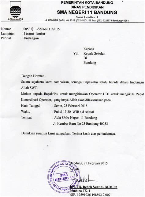 contoh undangan rapat lewat email 100 images contoh surat