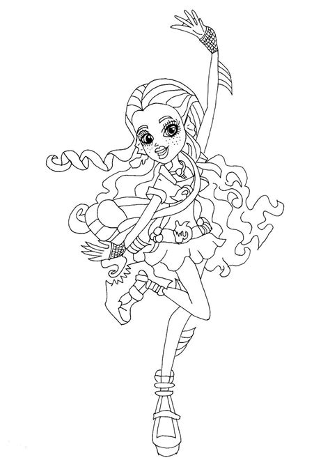 Free Printable Monster High Coloring Pages Lagoona Blue High Lagoona Blue Coloring Pages
