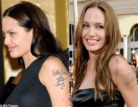 angelina jolie tattoo billy bob thornton top 10 celebrity tattoo disasters metro news
