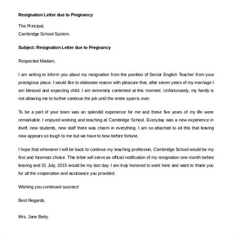 Immediate Resignation Letter Due To Harassment 7 immediate resignation letter templates free sle exle format free