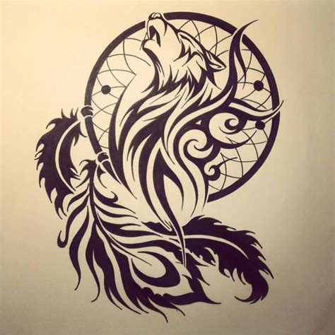 feather tattoo facing up or down wolf face in dream catcher feather tattoo design event