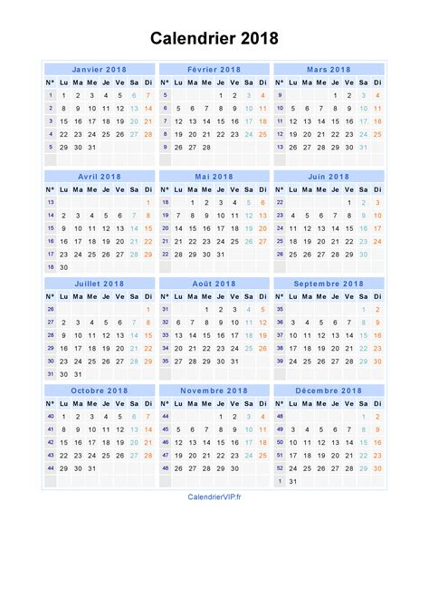 Calendrier Imprimable 2018 Calendrier 2018 Imprimable Calendar Template 2016