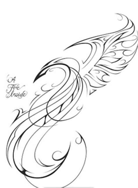 phoenix tattoo abstract abstract like tribal phoenix tattoo tattoo pinterest