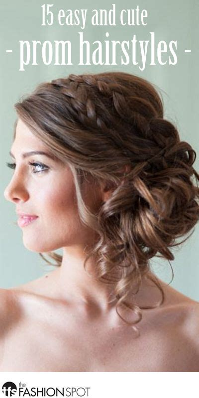 Simple Fancy Hairstyles by 15 Pretty And Easy Prom Hairstyles Updo Wedding And