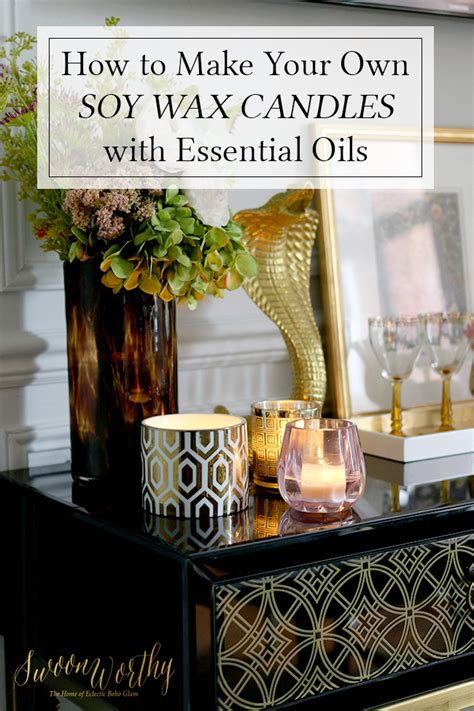 video how to make soy wax candles with essential oils swoon worthy