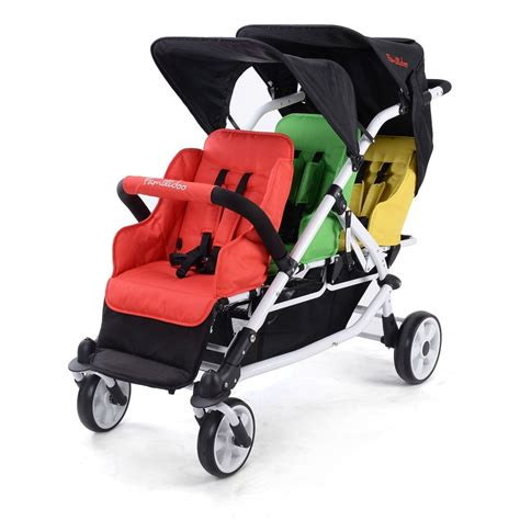 familidoo lightweight 3 seater stroller from early years