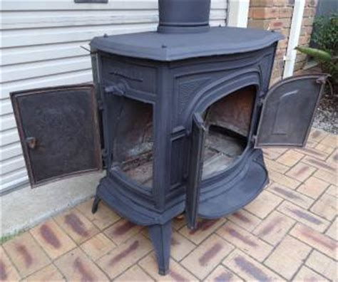 Scandia Fireplace by Scandia Cast Iron Wood Heater Pot Belly Stove Flue Ebay