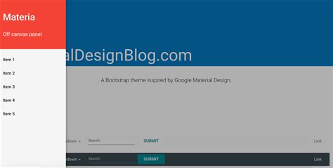 Bootstrap Themes Material Design | well crafted material design bootstrap theme