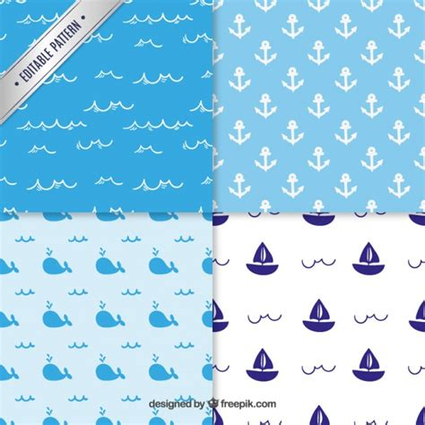 nautical pattern vector nautical patterns vector free download