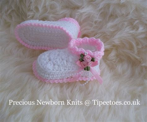 Handmade Booties For Infants - knitted crochet baby reborn pretty boots booties