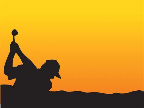 design powerpoint sport playing golf powerpoint templates black orange sports