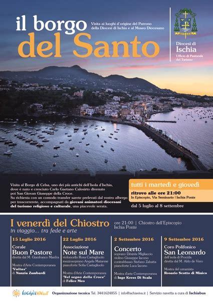 ufficio turismo ischia diocesi di ischia programma attivit 224 estive 2016