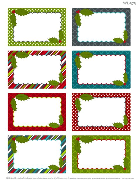 printable sheet of christmas tags printable christmas labels for homemade baking