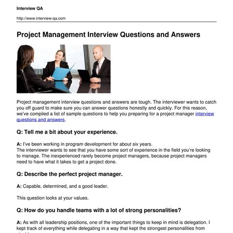 technical project management interview questions best manager cover