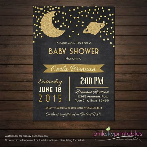 Space Baby Shower Invitations by 25 Best Ideas About Space Baby Shower On