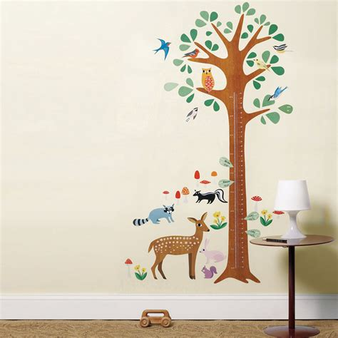 wall stickers next day delivery wallies play woodland growth chart wall stickers next day delivery wallies play woodland