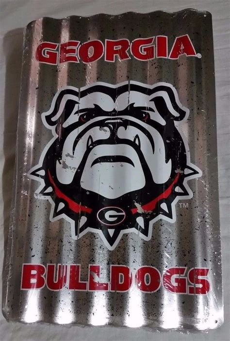 georgia bulldogs corrugated sign football game dorm room