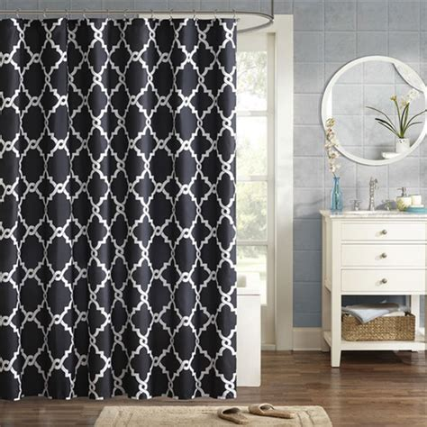 upgrade white curtains black and white shower curtain set curtain menzilperde net