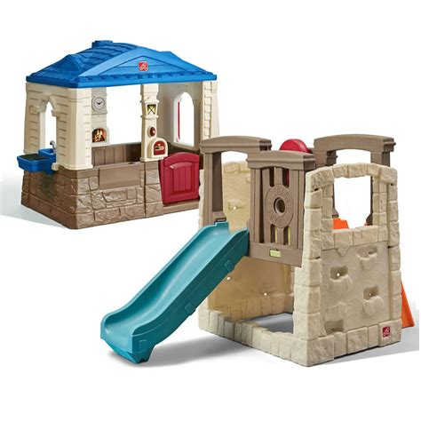 step 2 swing and slide combo backyard basics combo kids toy combo step2